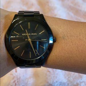 Black metal Michael Kors watch